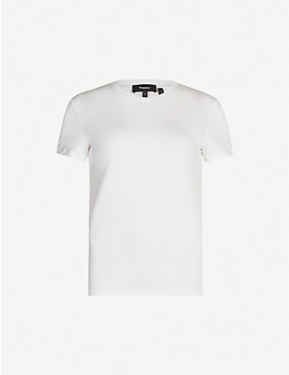 THEORY: Tiny Tee cotton-jersey T-shirt