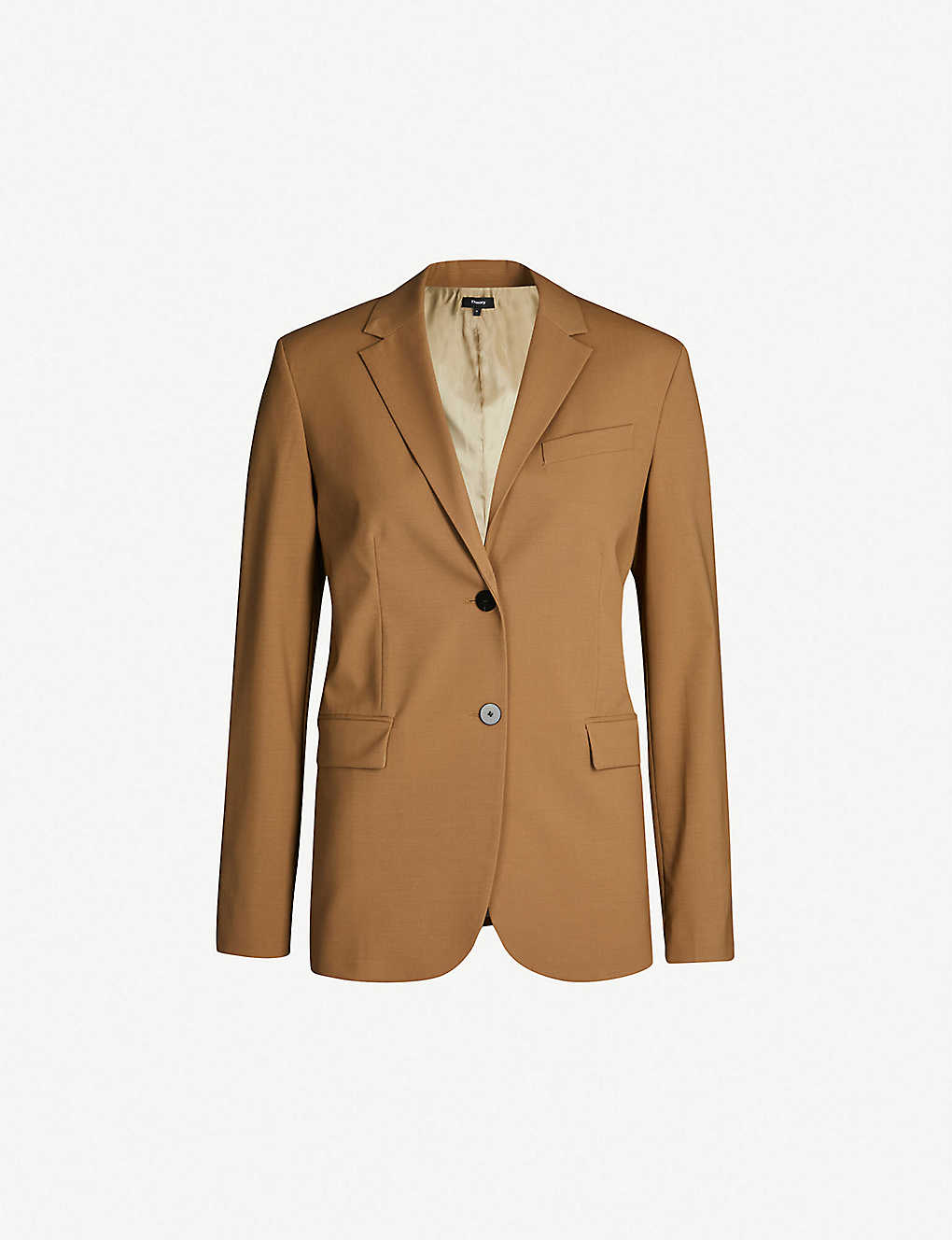 dd7a23bf69f1 THEORY - Single-breasted stretch-wool blazer | Selfridges.com