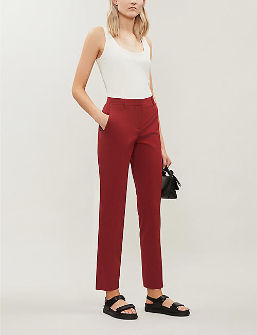911b9c8ff9c8 THEORY Straight high-rise stretch-wool trousers