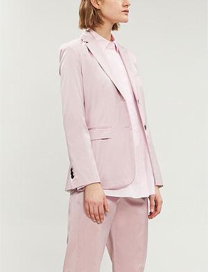 b6089afa5f4fa THEORY - Isalva band-collar silk shirt