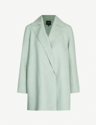 THEORY Overlay wool and cashmere-blend coat