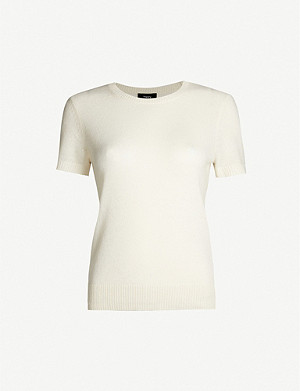 THEORY Basic short-sleeved cashmere jumper