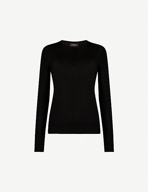 THEORY Regal crew-neck wool-blend jumper