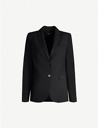THEORY: Single-breasted wool-blend blazer