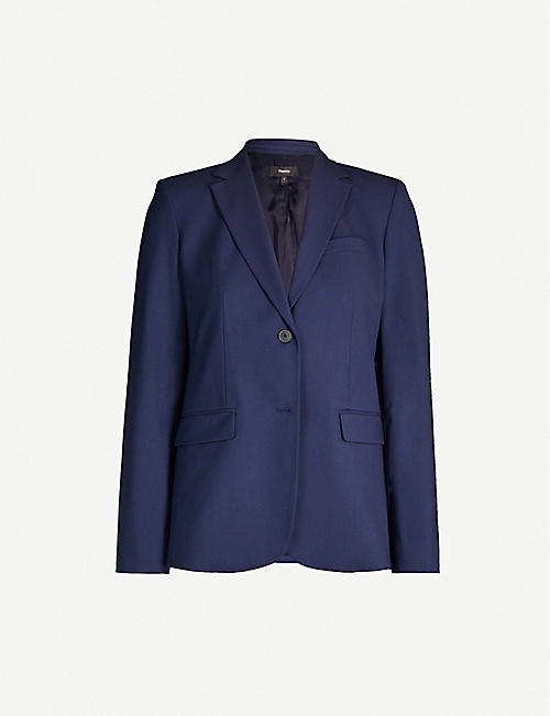 THEORY Single-breasted wool-blend blazer