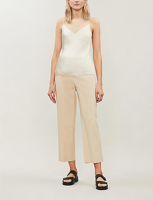 THEORY Textured crepe top