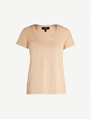 THEORY Scoop-neck short-sleeved cotton-jersey T-shirt