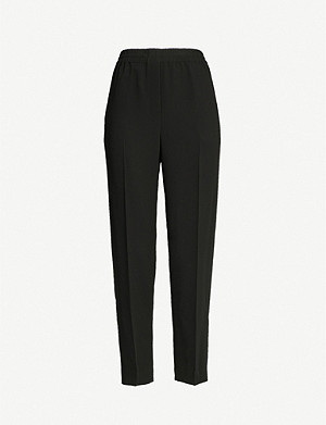THEORY High-rise relaxed-fit jersey trousers