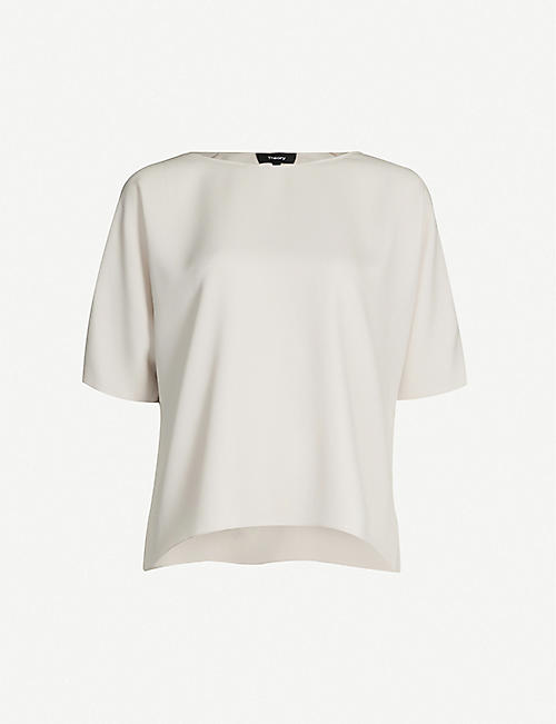 THEORY Relaxed-fit raglan-sleeved woven top