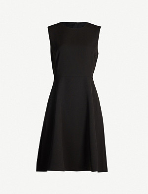 THEORY Dart flared crepe dress