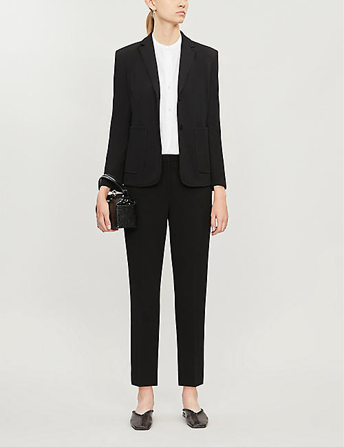 THEORY Shrunken single-breasted woven blazer