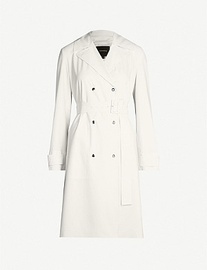 THEORY Belted virgin wool trench coat