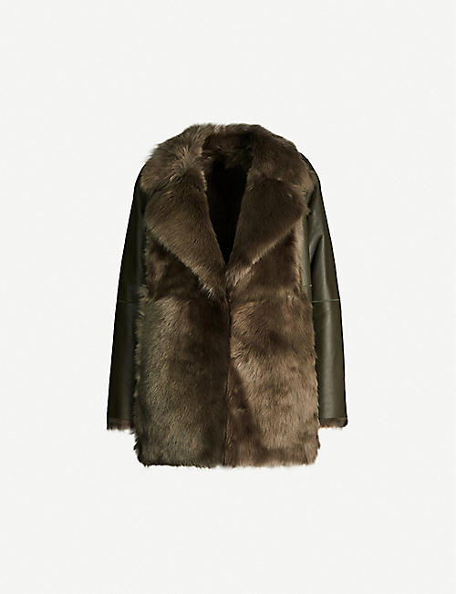 THEORY Reversible shearling coat