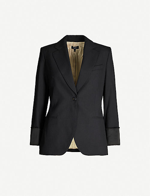 THEORY Single-breasted wool blazer