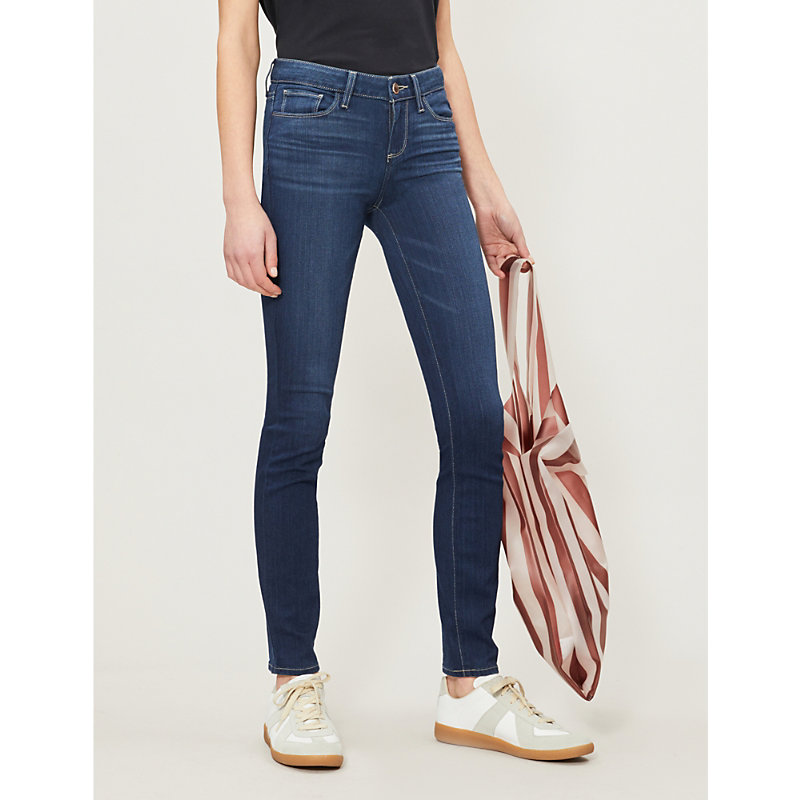 PAIGE | Skyline Slim-Fit Mid-Rise Jeans | Goxip