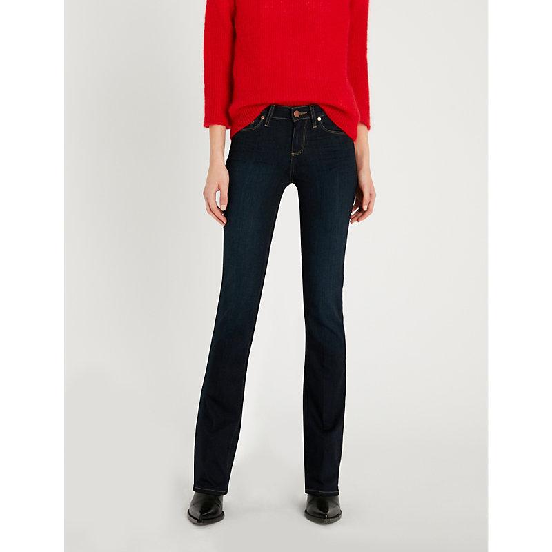 PAIGE | Manhattan Mid-Rise Slim-Fit Jeans | Goxip