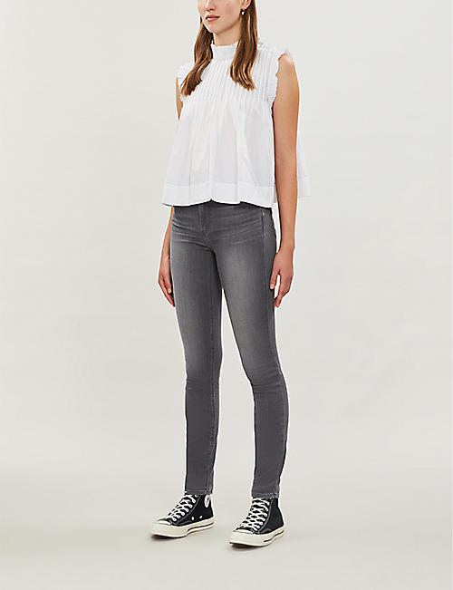 PAIGE Hoxton skinny faded high-rise jeans