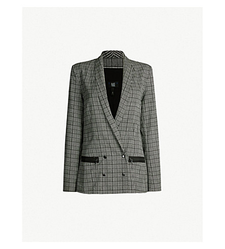 be64fbf89ecc PAIGE - Prince of Wales-checked tencel and cotton-blend blazer ...
