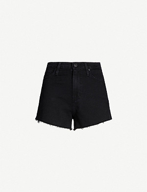 PAIGE Margot high-rise denim shorts