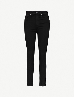 PAIGE Margot ultra-skinny high-rise cropped jeans