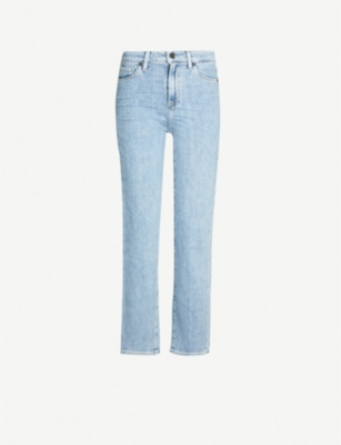 PAIGE Hoxton ankle high-rise straight jeans