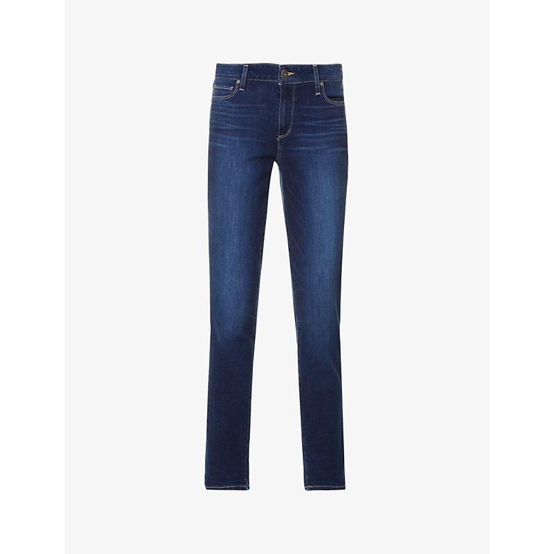 PAIGE | Brigitte Skinny Cropped High-Rise Jeans | Goxip
