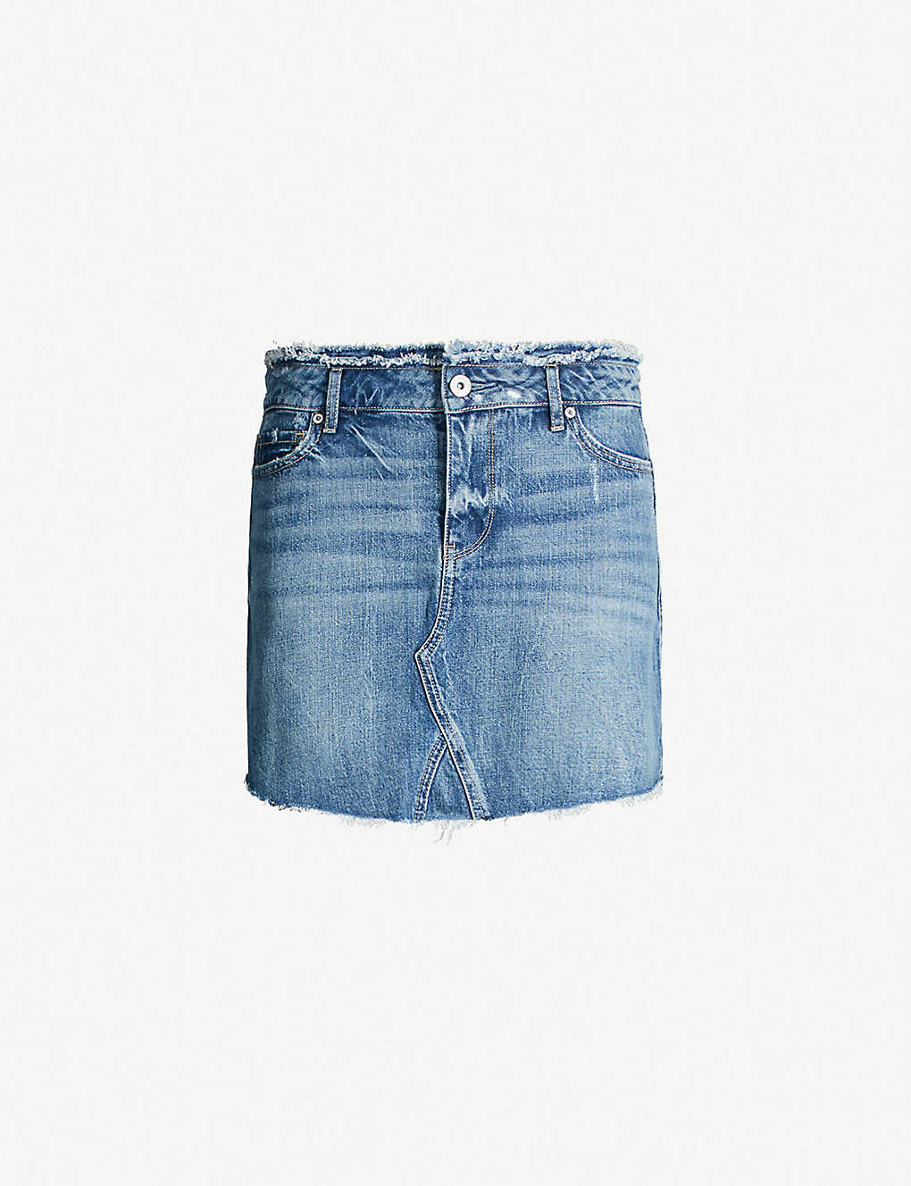 f2be6ea9f4 PAIGE - Alethea frayed-hem denim mini skirt | Selfridges.com
