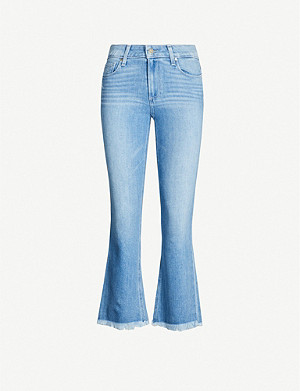 PAIGE Colette high-rise faded flared jeans