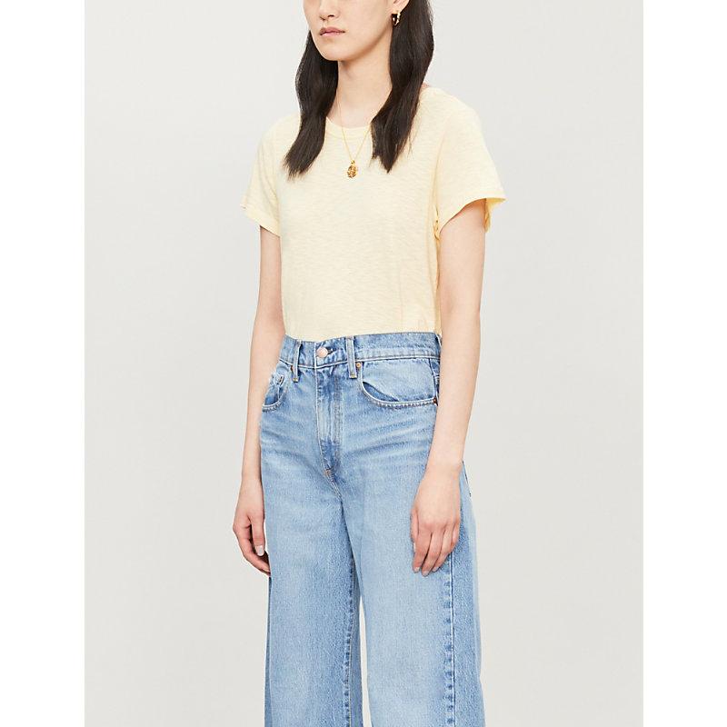 PAIGE | Ellison Cotton-Blend T-Shirt | Goxip