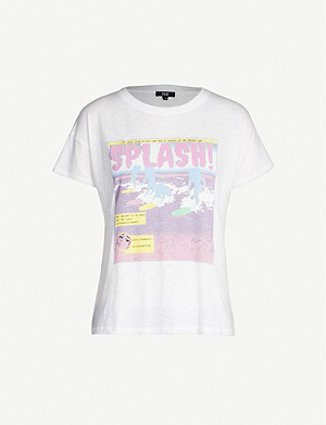PAIGE Splash cotton-blend jersey T-shirt