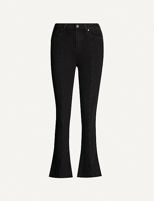PAIGE Collette front seam high-rise cropped raw hem jeans