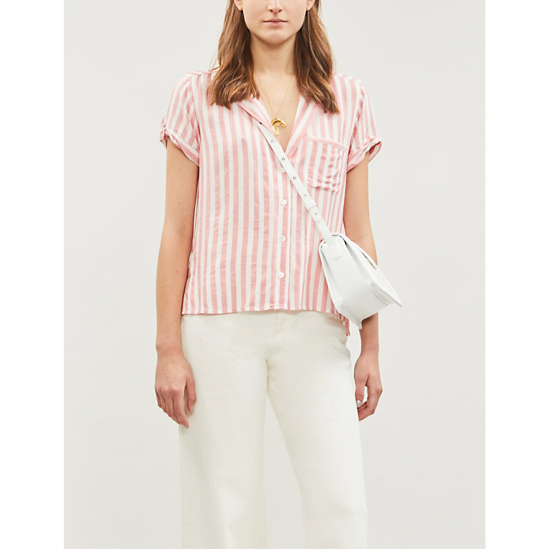 PAIGE | Colwyn Striped Rayon Shirt | Goxip