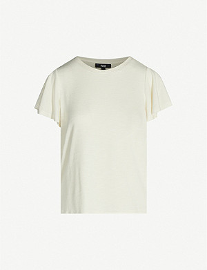 PAIGE Brielle flared-sleeve stretch-jersey T-shirt