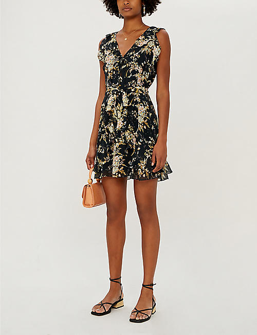 PAIGE Tia floral-print silk mini dress