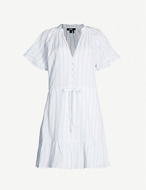 PAIGE Ari striped cotton dress