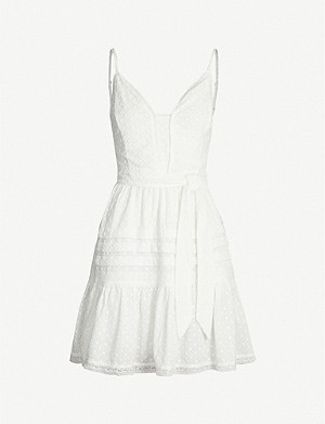 PAIGE Nahla embroidered cotton-blend mini dress