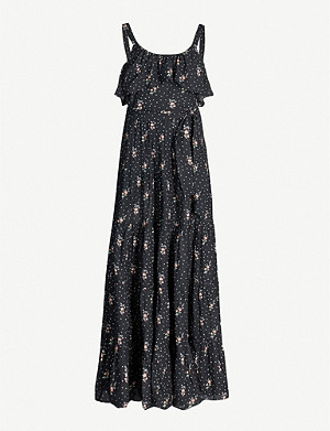 PAIGE Tevin floral-print cotton-blend maxi dress