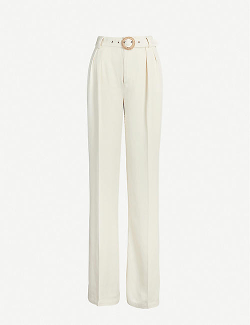 PAIGE Rachel high-rise wide twill trousers