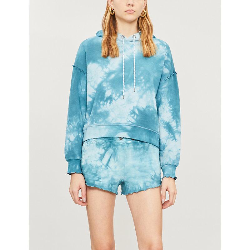 PAIGE | Marlie Tie-Dye Cotton-Blend Shorts | Goxip