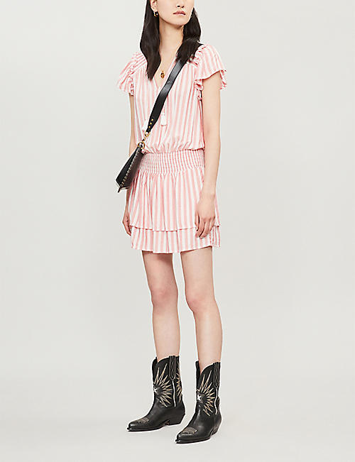 PAIGE Cristina striped rayon mini dress