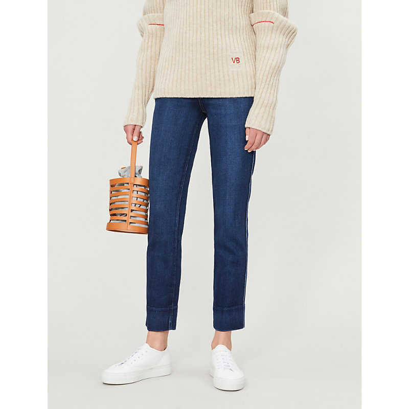 PAIGE | Hoxton High-Rise Faded Skinny Jeans | Goxip