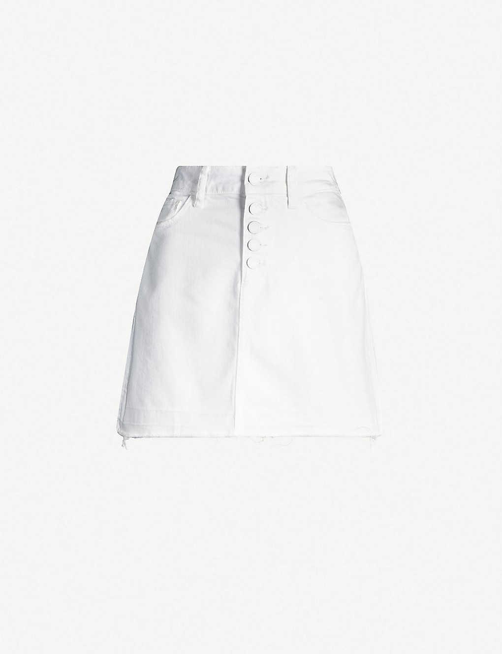 80b3e3529 PAIGE - Aideen high-waisted denim mini skirt | Selfridges.com