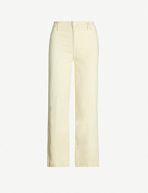 PAIGE Nellie straight cropped high-rise jeans
