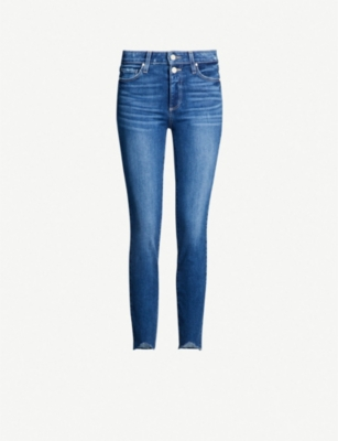 PAIGE Hoxton Ankle Split skinny high-rise jeans