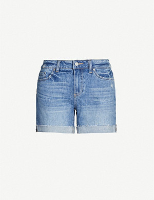 PAIGE Parker distressed stretch-denim shorts