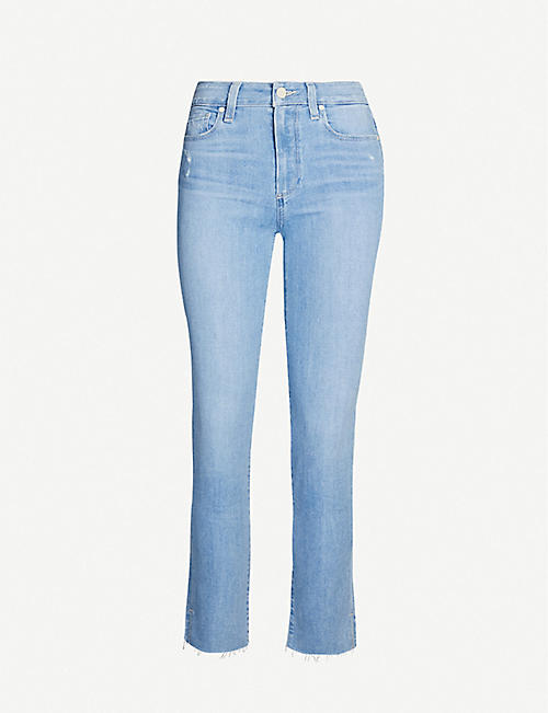 PAIGE Margot slim-fit high-rise jeans