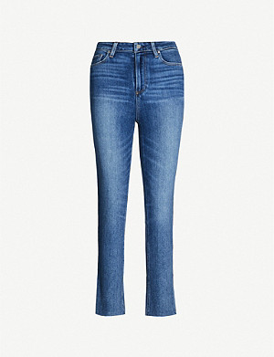 PAIGE Sarah straight slim-fit high-rise jeans