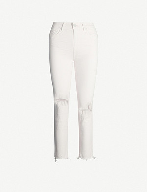 PAIGE Hoxton cropped slim-fit high-rise jeans