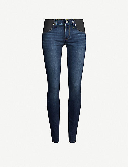 PAIGE: Verdugo maternity skinny mid-rise jeans