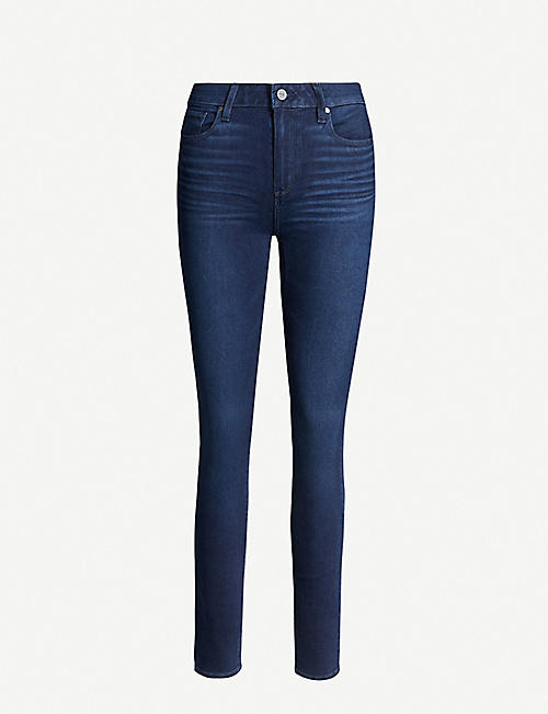 PAIGE Hoxton ultra-skinny high-rise stretch-denim jeans